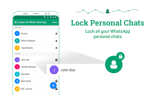 Locker for Whats Chat App - Secure Private Chat स्क्रीनशॉट 10
