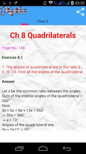 Class 9 Maths Solutions screenshot 5