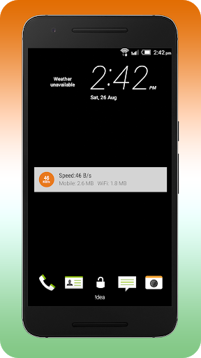 Internet Speed Meter (Indian) 4 تصوير الشاشة