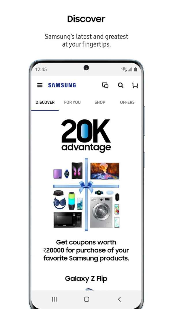 Samsung Shop screenshot 1