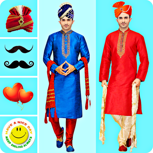 Men Sherwani Suit Photo Editor icon