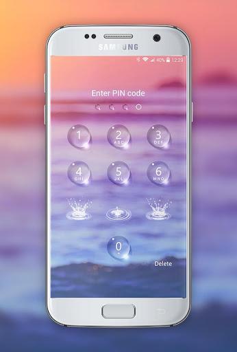 Lock screen - water droplets screenshot 2