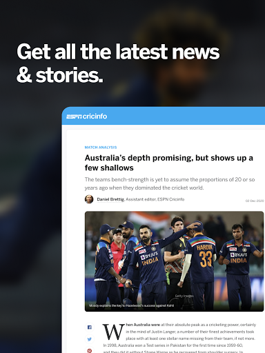 ESPNCricinfo - Live Cricket Scores, News & Videos screenshot 9