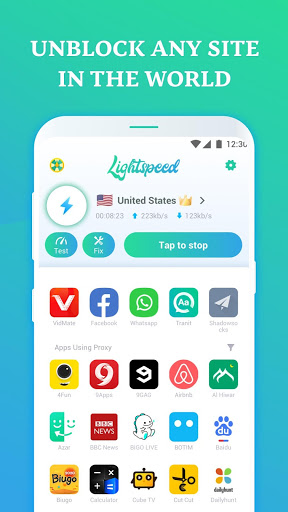 Secure VPN Proxy, Free VPN Browser- Lightspeed VPN screenshot 2