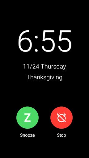 New Alarm: Clock with Holidays 2 تصوير الشاشة