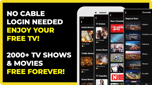 FREECABLE TV App: Free TV Shows, Free Movies, News screenshot 1