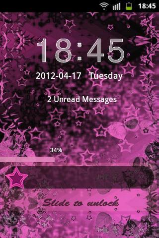 Theme Pink Dark GO Locker screenshot 1
