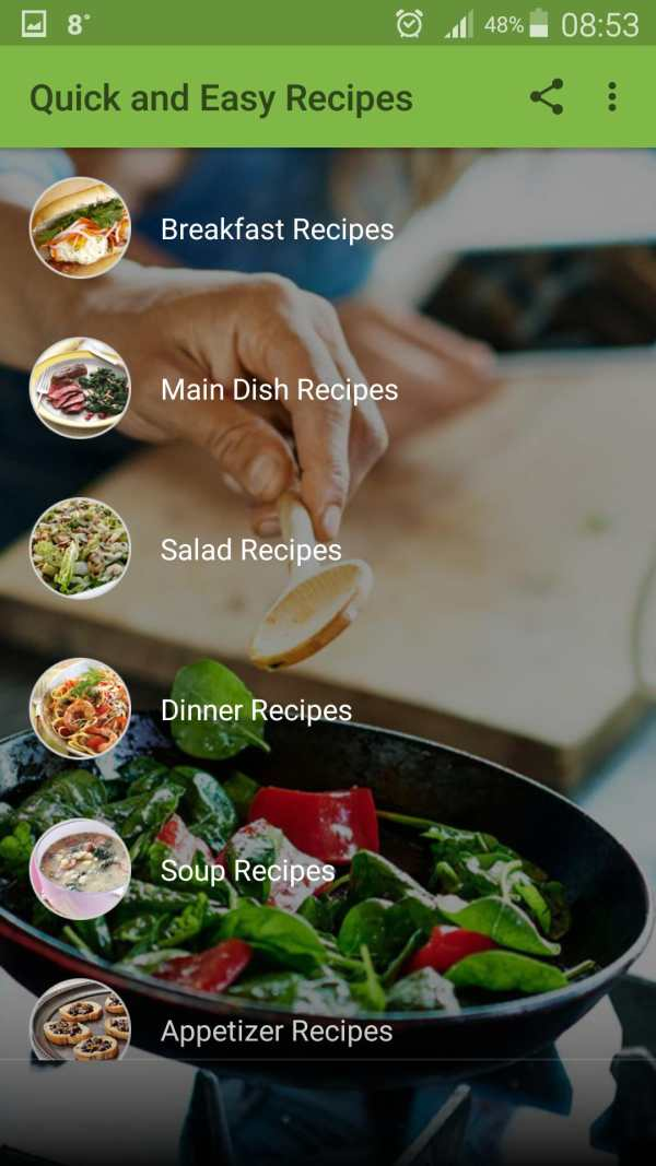 Quick and Easy Recipes screenshot 1