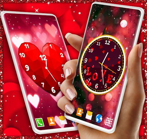 Love Clock Wallpaper ❤️ Hearts 4K Live Wallpaper screenshot 4
