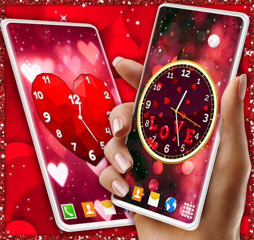 Love Analog Clock ❤️ Watch Live Wallpaper Hearts screenshot 4