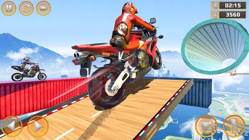 Mega Ramp Impossible Tracks Stunt Bike Rider Games screenshot 1