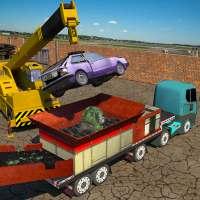 Monster Car Crusher Crane 2019: City Garbage Truck on 9Apps