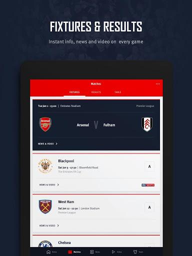 Arsenal Official App 12 تصوير الشاشة