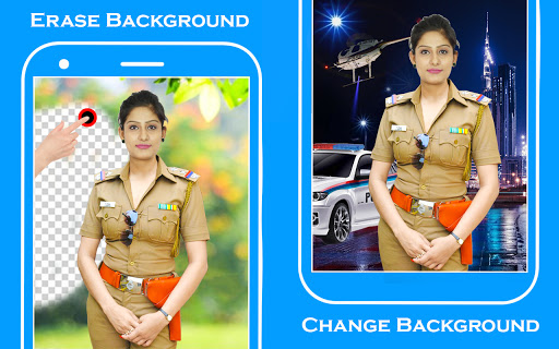 Women Police Suit Photo Editor screenshot 2
