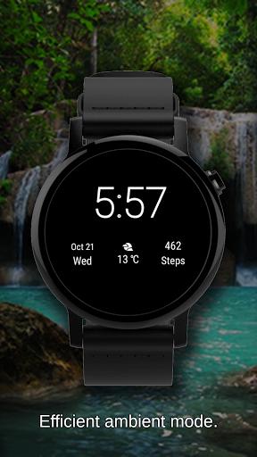 Watch Face Waterfall Wallpaper- Wear OS Smartwatch screenshot 4