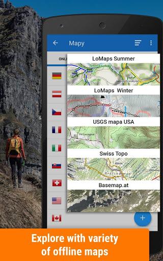 Locus Map Free - Hiking GPS navigation and maps screenshot 1