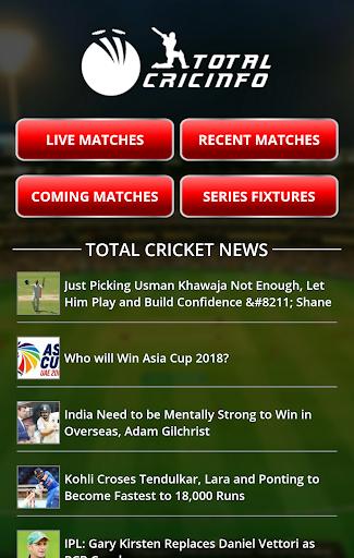 Live Cricket Scores & Updates -Total Cricinfo 1 تصوير الشاشة