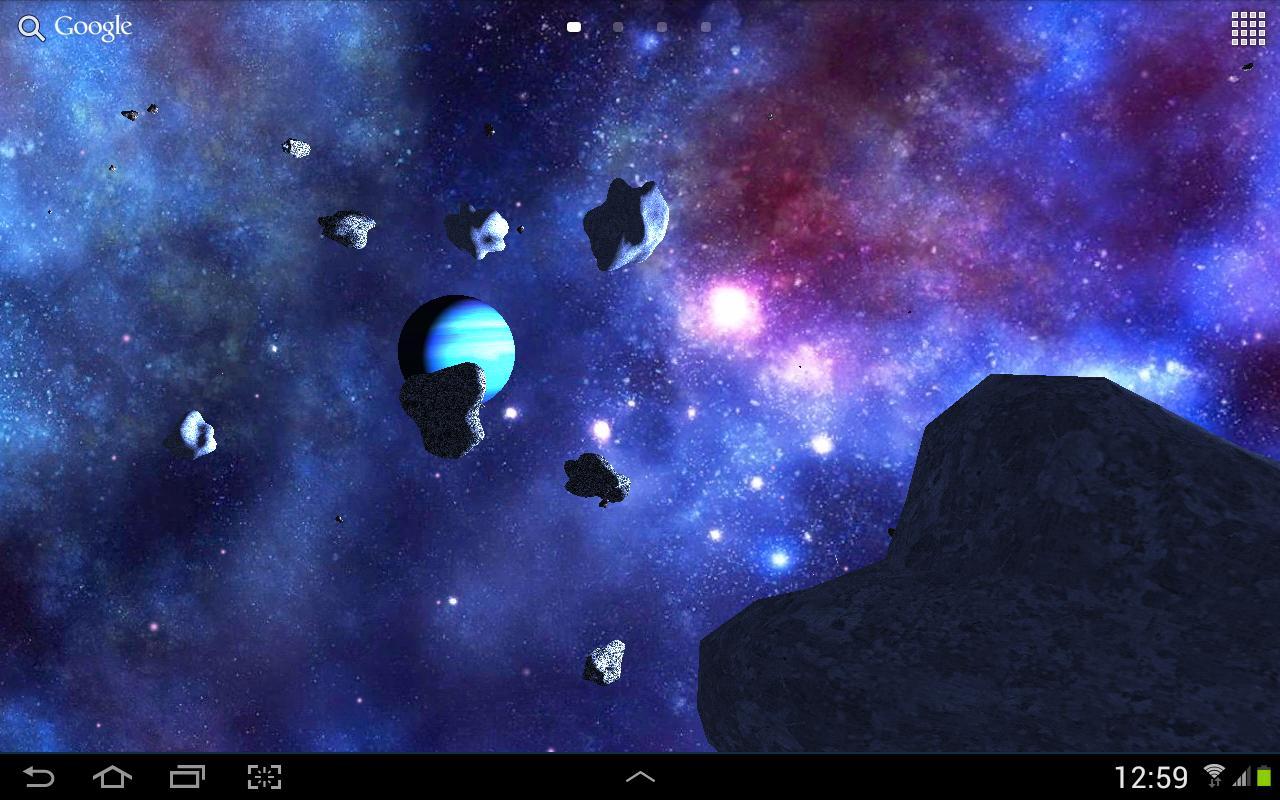 Asteroids 3D live wallpaper 14 تصوير الشاشة