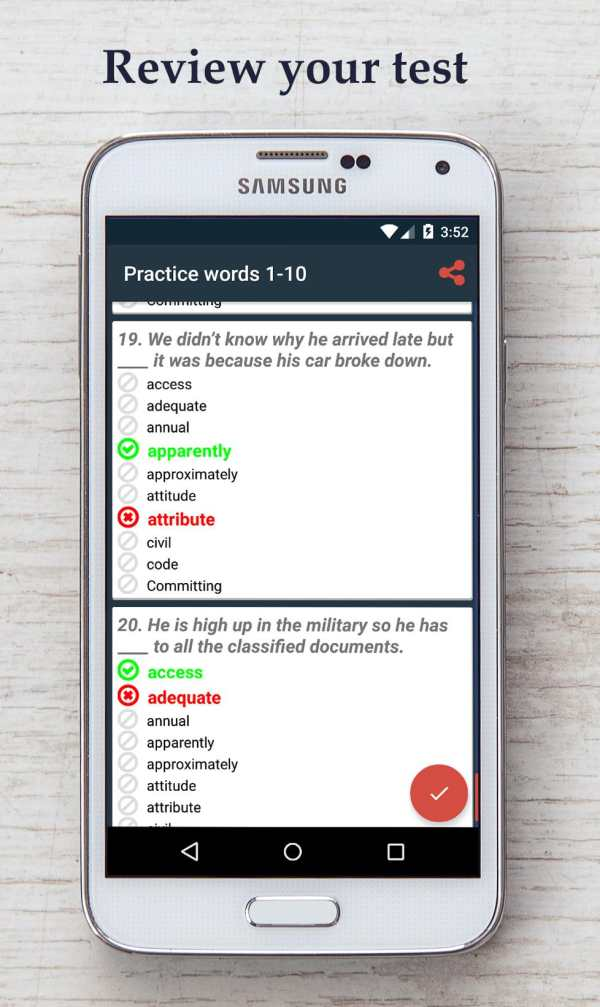 English Vocabulary Test screenshot 4
