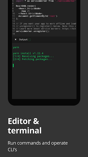 Dcoder, Compiler IDE :Code & Programming on mobile screenshot 1
