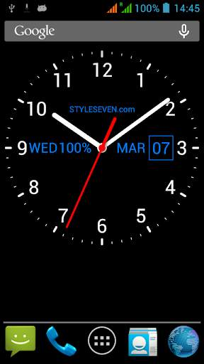 Analog Clock Live Wallpaper-7 screenshot 3