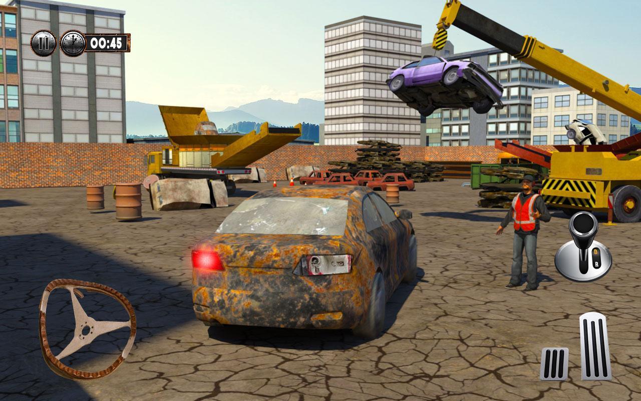 Monster Car Crusher Crane 2019: City Garbage Truck screenshot 7