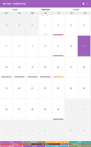 My Days - Ovulation Calendar & Period Tracker ™ 7 تصوير الشاشة