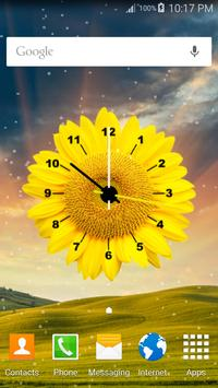 Flowers Clock Live Wallpaper 3 تصوير الشاشة