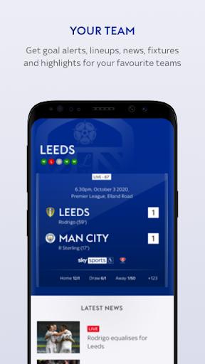 Sky Sports Scores 4 تصوير الشاشة