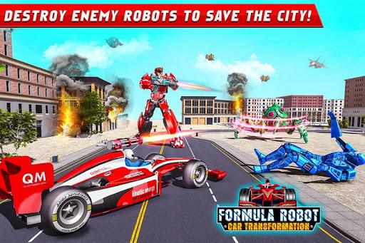Formula Car Robot Games - Air Jet Robot Transform screenshot 1