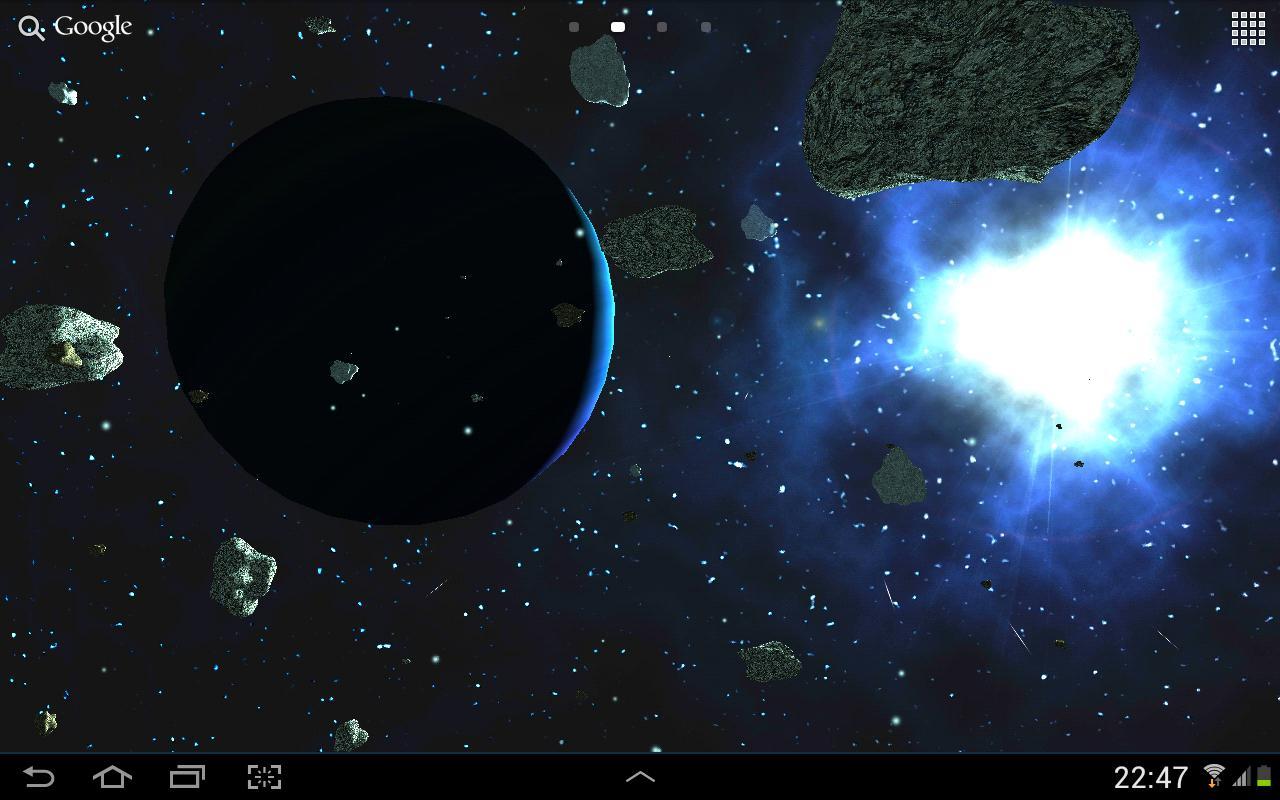 Asteroids 3D live wallpaper 17 تصوير الشاشة