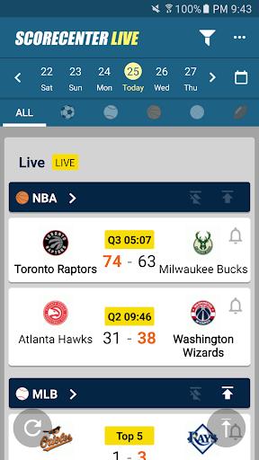ScoreCenter Live : All sports screenshot 1