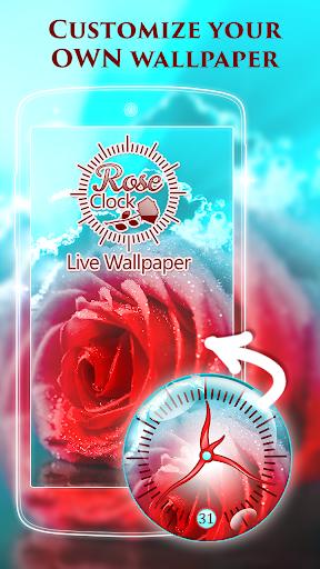 Rose Clock Live Wallpaper screenshot 1