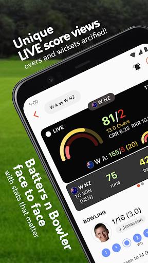 Live cricket scores, unique cricket app cricsmith 1 تصوير الشاشة