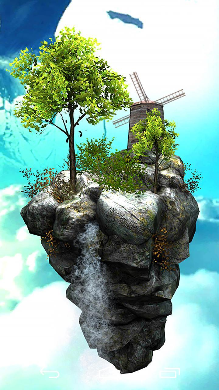 Fly Island Free 3D LWP screenshot 4