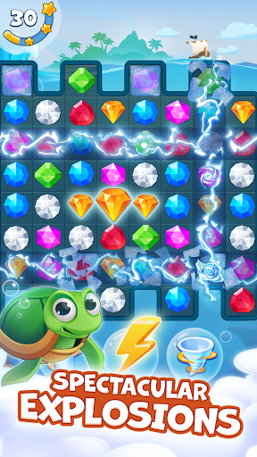 Pirate Treasures - Gems Puzzle 13 تصوير الشاشة