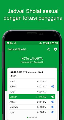 Jadwal Waktu Sholat Indonesia - Kiblat, Adzan, Doa screenshot 1
