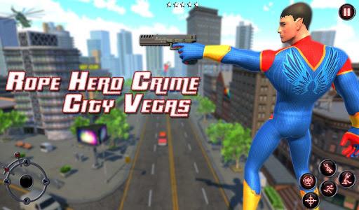 Rope Amazing Hero Crime City Simulator screenshot 6