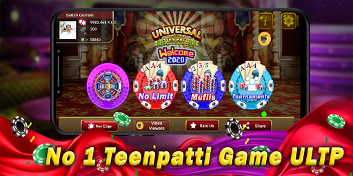 Universal Teen Patti - Indian Poker Game screenshot 1