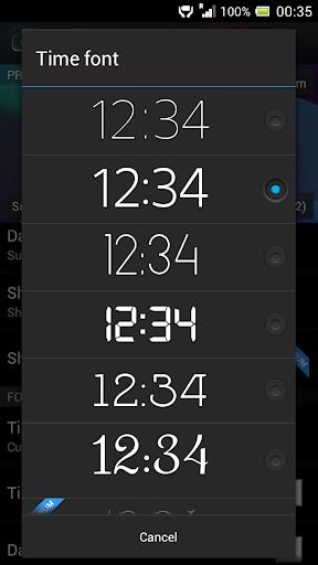 Digital Clock Widget Xperia screenshot 7