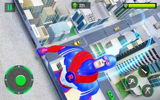 Flying Police Robot Rope Hero: Gangster Crime City screenshot 13