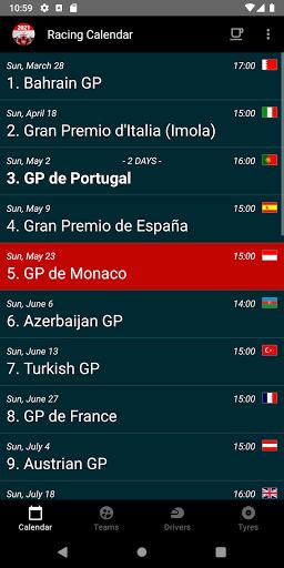 Racing Calendar 2021 screenshot 1
