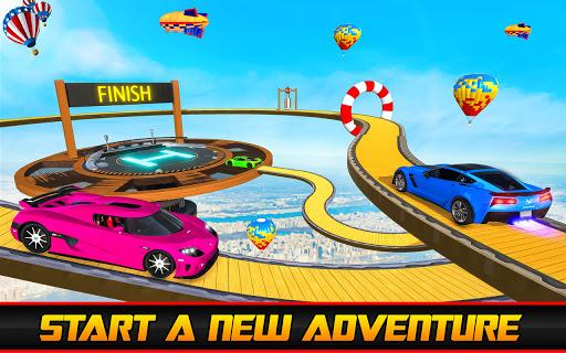 Ramp Car Stunt Jumping-Top Speed Mega Ramp Racing 5 تصوير الشاشة
