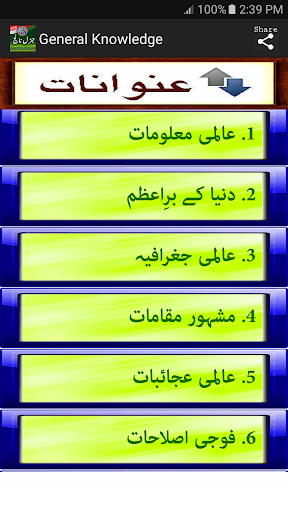 General Knowledge English Urdu For All screenshot 4