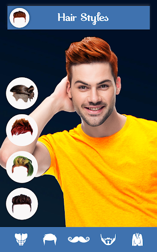 Hairy - Men Hairstyles Beard & Boys Photo Editor скриншот 1