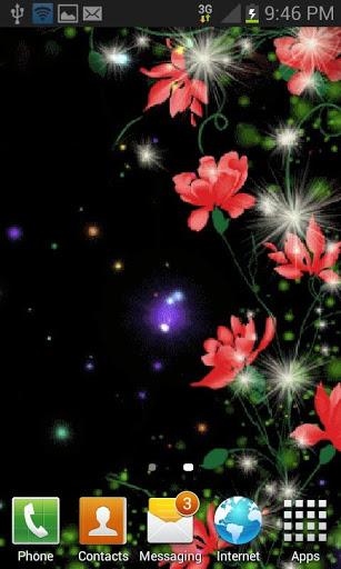 Red Flowers Magic LWP screenshot 2