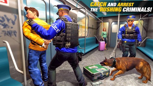 US Police Dog Subway Simulator Games–Crime Chase 3 تصوير الشاشة