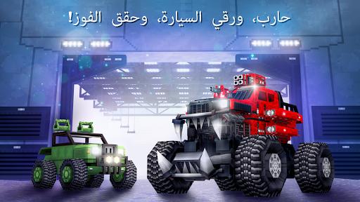 Blocky Cars - shooter & cars 4 تصوير الشاشة