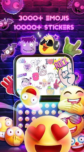 Neon Messenger for SMS - Emojis, original stickers screenshot 2