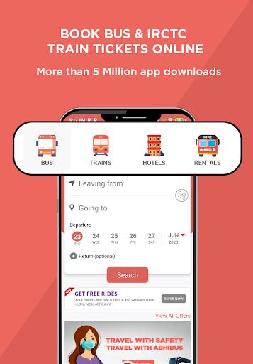 AbhiBus - Bus Booking and IRCTC Train Ticket App 1 تصوير الشاشة